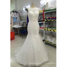 Aoliweiya Personalizar Vestidos de novia de la boda con escote completo
