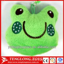 Brinquedos do keychain do luxuoso em brinquedos das crianças da forma do sapo