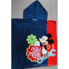 (BC-PB1010) Poncho de playa para niños con estampado de algodón 100% de gran venta