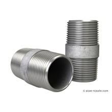 Raccords galvanisés de mamelon de tuyau d'acier