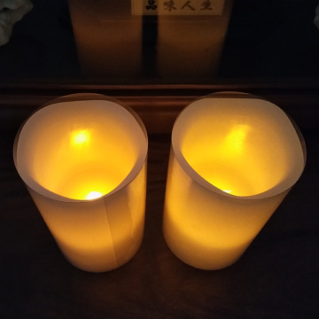 Flameless LED Wax Pillar Candles med fjärrkontroll