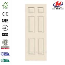 30 in. x 80 in. Woodgrain 6-Panel Primed Molded Interior Door Slab