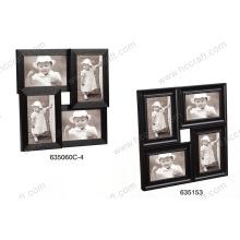 Multiple Wood like PS Photo Frame in Black