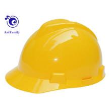 CE EN397 ABS / construção V tipo PE capacete de segurança para venda