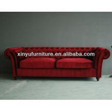 100% velour fabric two seater sofa set design european style XY6000