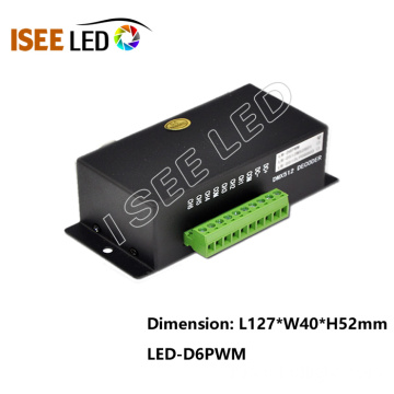 Easy LED dmx decoder driver 6channels