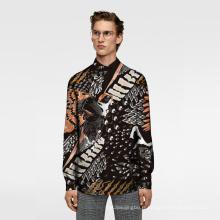 Tissu de chemise d'homme de tissu de calicot de tissu d'impression numérique