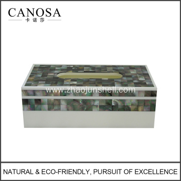 High Quality Tissue Box Holders With Black Seashell