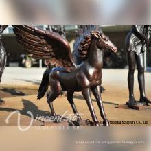outdoor garden decoration metal bronze flying horse sculpture