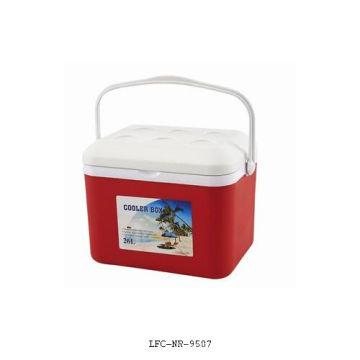 Refrigerador de plástico de 26 litros, caixa do refrigerador de gelo, caixa plástica do refrigerador
