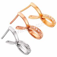 Jewelred Accessoire 18K Gold Pinch Bail Micro Pave Zircon Cubique Bijouterie Or