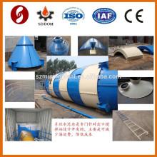 SNC100 100ton silo de cimento para armazenagem de cinzas volantes