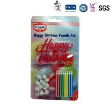 Blister cartão de embalagem vela de aniversário com titular