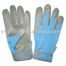 Guante de la PU-guante de las mujeres-guante de la mano-guante del algodón-guantes de la seguridad-guantes del trabajo