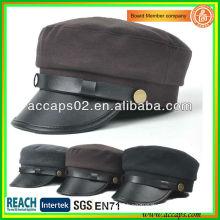 2013 New Design Leather Brim Ladies Korean Fahsion Hats AMC-1206