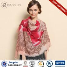 Bufanda de moda de la señora del pashmina de las lanas del invierno del Bowknot