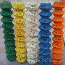 Clôture enduite de lien de chaîne de PVC avec différentes couleurs