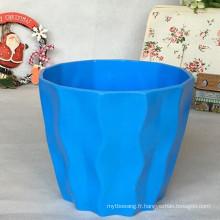 2016 nouveau design coloré pot en plastique usine