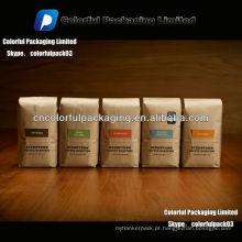 250g de café torrado kraft saco para café / papel Kraft saco de café