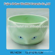 Bacia de cerâmica verde em forma de fox fofo para atacado
