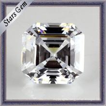 Fashion Jewelry Set Leaf White Cubic Zirconia Gemstone Loose Beads (STG-55)