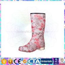 pvc high rain boots ladies fashion gumboots