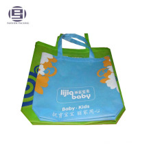 Logo printed non woven suit shoppingbag with rope handle