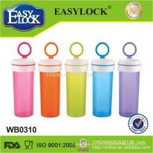 Easylock nova garrafa de água potável de plástico transparente atacado