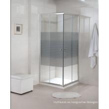 Artículos sanitarios Personalizado con bisagras de vidrio templado simple ducha (A22)