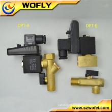 Latão OPT-B G1 / 2 válvula solenóide do compressor de ar 24VDC