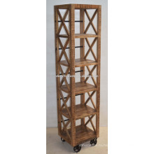 Деревянные Промышленной Городской Лофт Книжный Шкаф