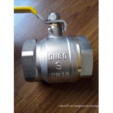 Válvula de esfera de controle de bronze de 3-4 polegadas com alça de ferro (YD-1021-2)