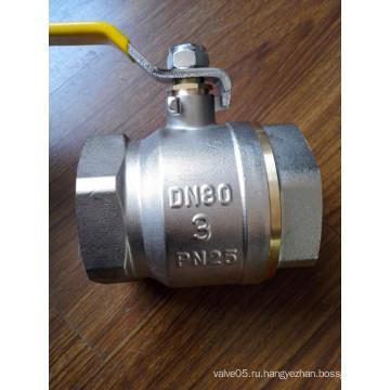 3-4 дюймов латунный шаровой клапан с железной ручкой (Яр-1021-2)