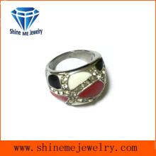 Modeschmuck Multi Steine und Emaille Ring