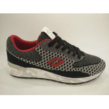 Grey Knitting Comfort Casual Running Shoes for Men