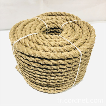 Corde Multifilament Twist Jaune Chanvre PP