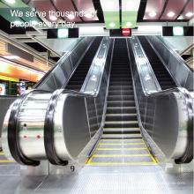 Escalera móvil de transporte público para estaciones de tren y metro