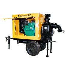 Trailer Mounted Mobile Dieselmotor Entwässerungspumpe