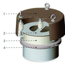 Válvula de segurança de alívio de pressão WAM para silo de cimento VCP273B
