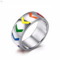 Beautiful New Image Gay Engagement Color Stainless Steel Ring