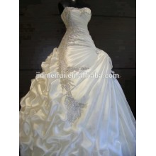 Real Photos 2014 Gorgeous A-line Ruffles Strapless Crystal Wedding Dresses Beautiful stunning Bridal Dresses