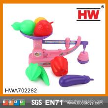 Hot Venda de vegetais de plástico e frutas brinquedos brinquedos de frutas weighbeam