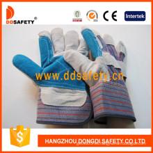 Cuero vaca Split trabajo guantes-Dlc326