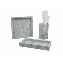 Quadratisches Marmortablett D30cm Dekoratives Tablett