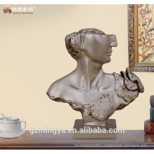 Modern Ornaments resin craft marble imitation man face modeling in chian guangzhou factory wholesale supplier for sale