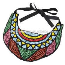 Vente en gros en stock Designs de collier de perles ethniques exotiques