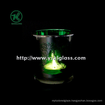 Color Double Wall Glass Candle Cup by SGS (KLB111007-42)