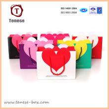 Heart Shape Shopping Paper Gift Bag