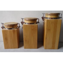 New Design Multi-Function Bamboo Canister/Bamboo Jar/Seal Pot