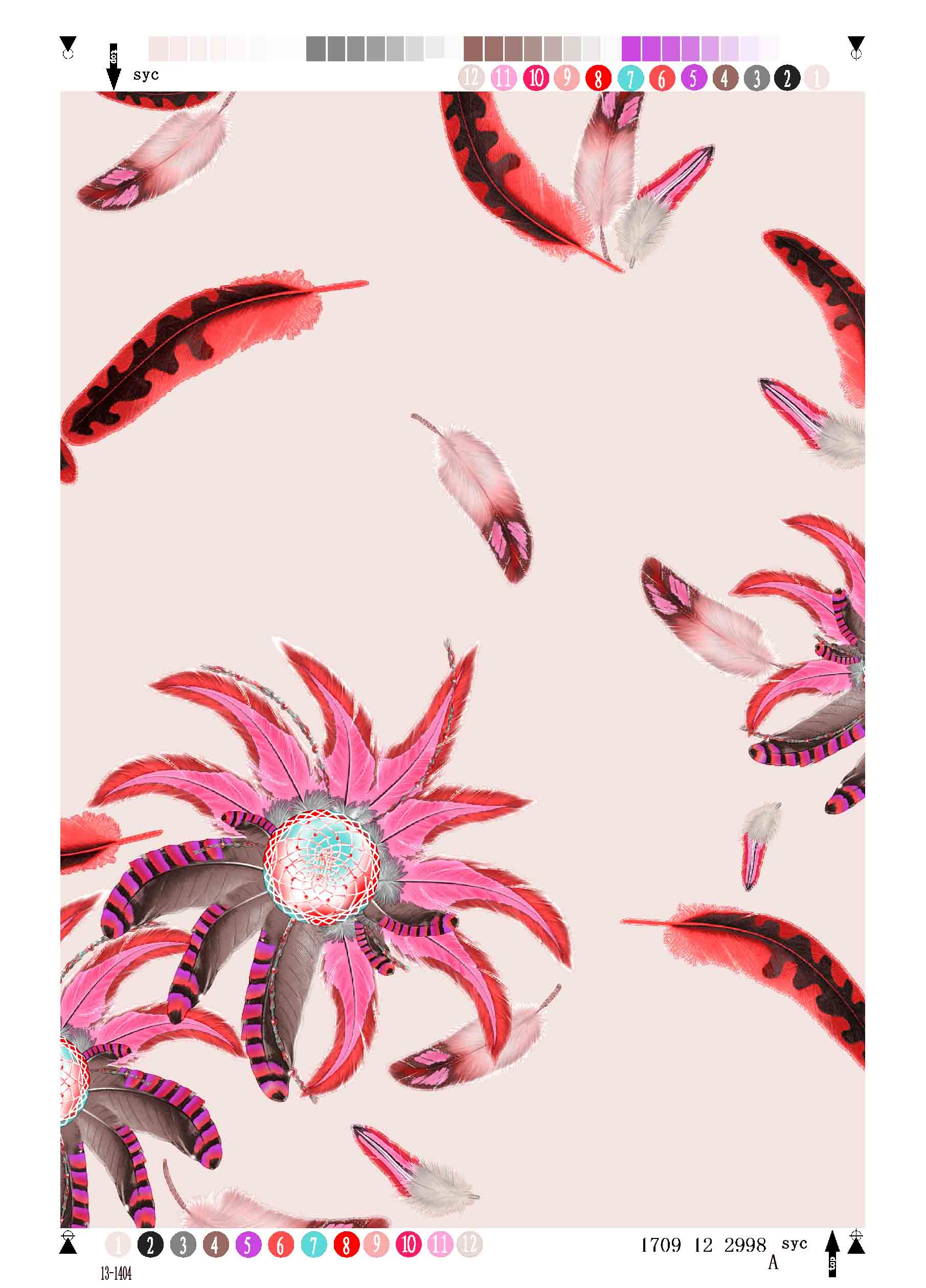 Rayon Twill Printing Fabric Feather
